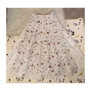 Michael Kors Lace Flared Skirt